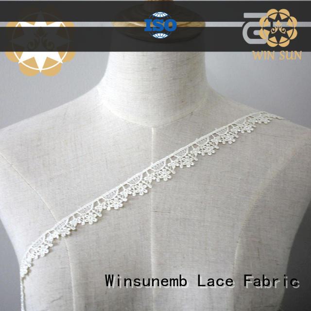 Winsunemb underwear stretch lace trim in china for fashion garment