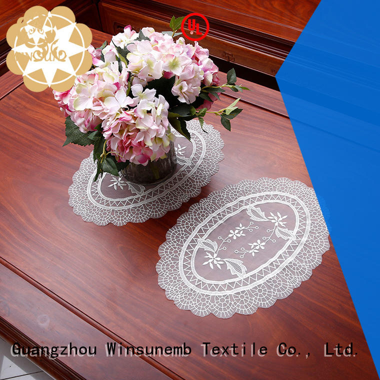 Winsunemb beautiful lace doilies for end table