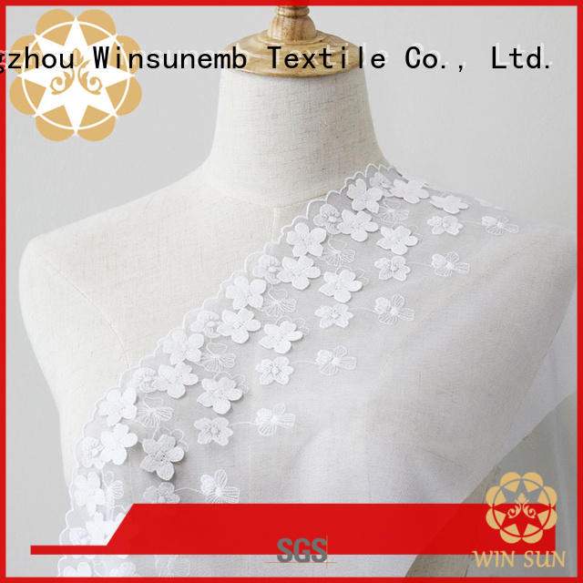 Winsunemb excellent guipure lace fabric for manufacturer for apparel