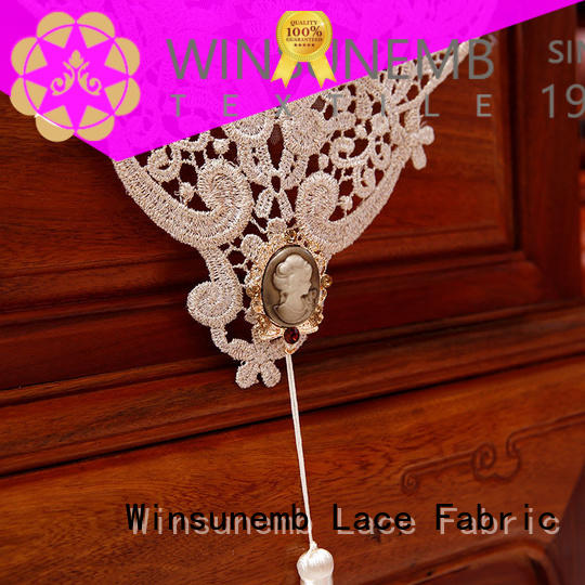 Winsunemb popular lace runners in china for end table