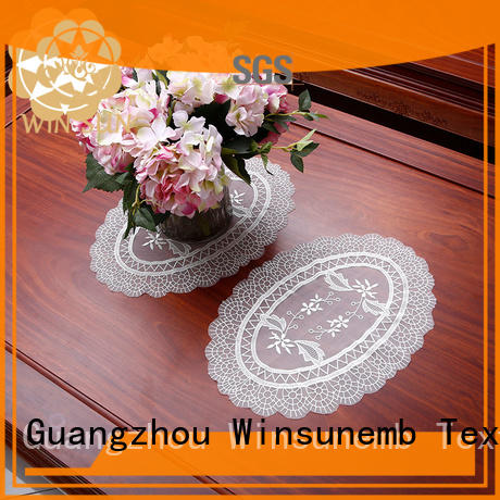 Winsunemb elegant lace doilies producer for TV cabinets
