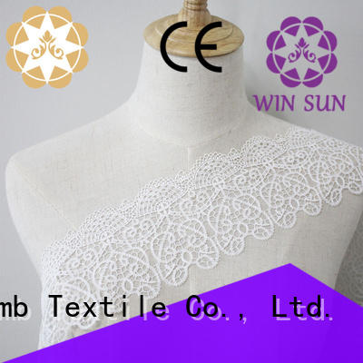 Winsunemb Brand newest eyelet lingerie Embroidery Lace Trimming manufacture