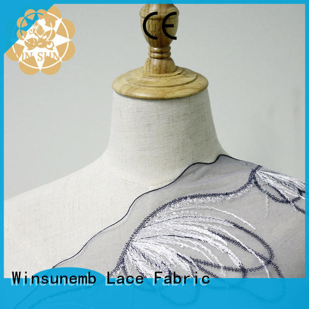 lace material anglaise for manufacturer for apparel
