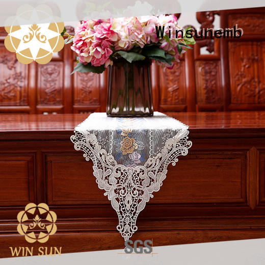 popular lace table runners nop805 bulk production for sideboards