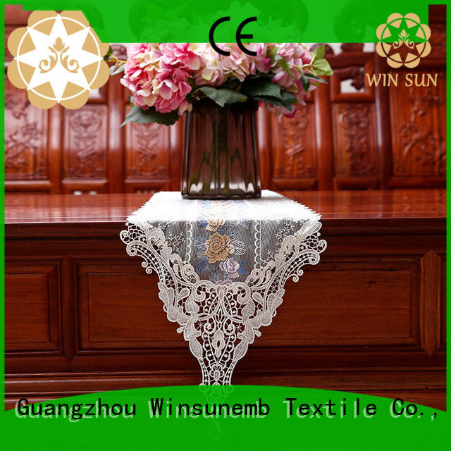 Winsunemb colorful lace runners order now for end table