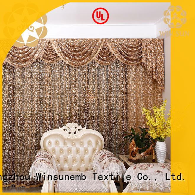 Winsunemb fashion design lace curtain directly sale for window