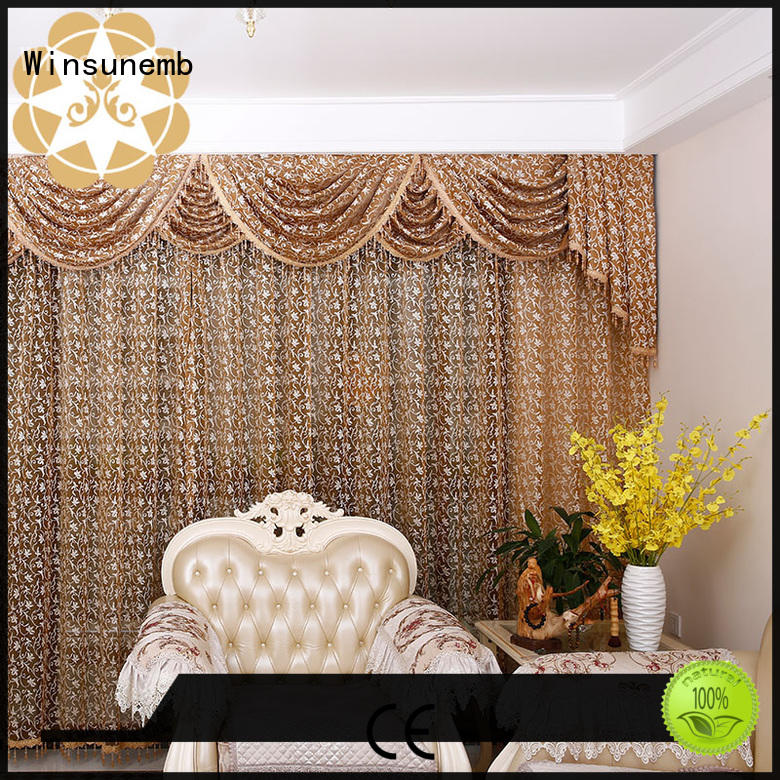 Winsunemb Brand room designs curtain white lace curtains