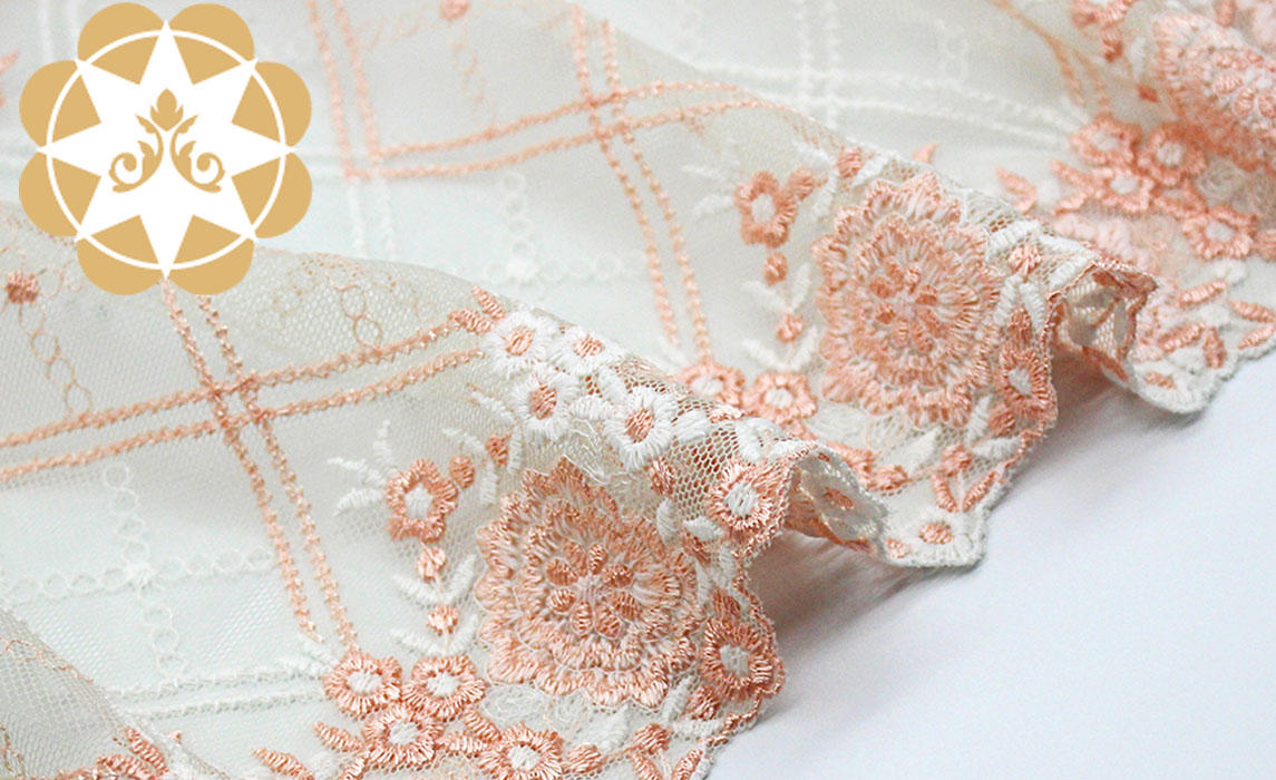 professional embroidered lace fabric by the yard lingerie producer for underwear-2