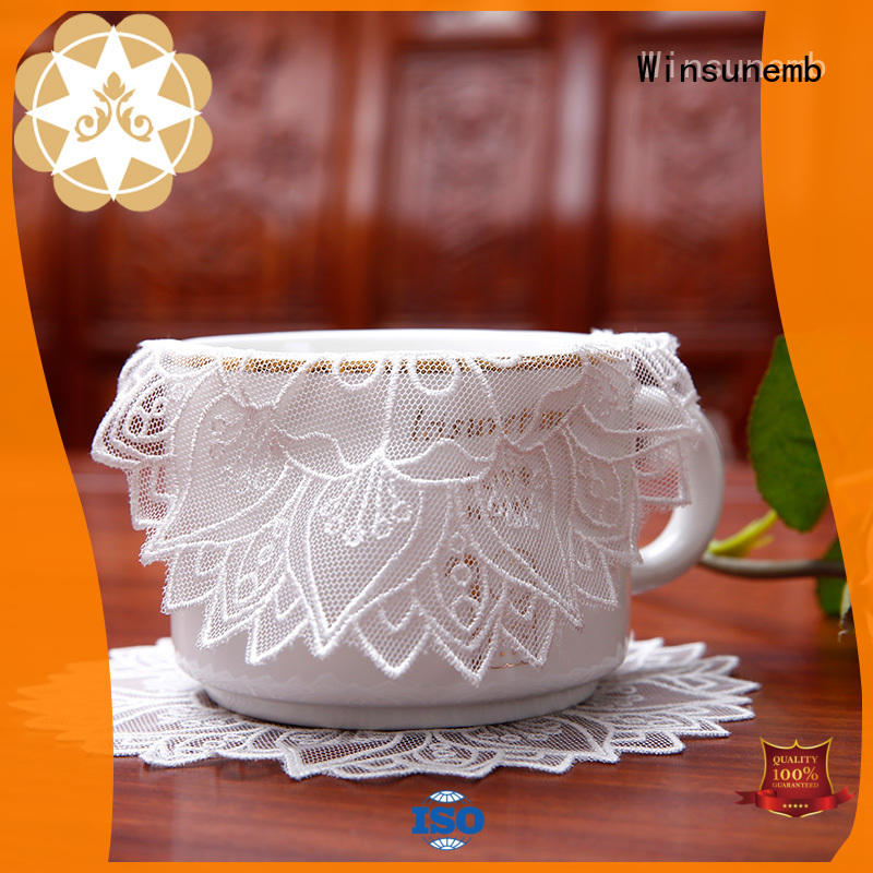 oval chinese traditional Winsunemb Brand where to buy lace doilies manufacture