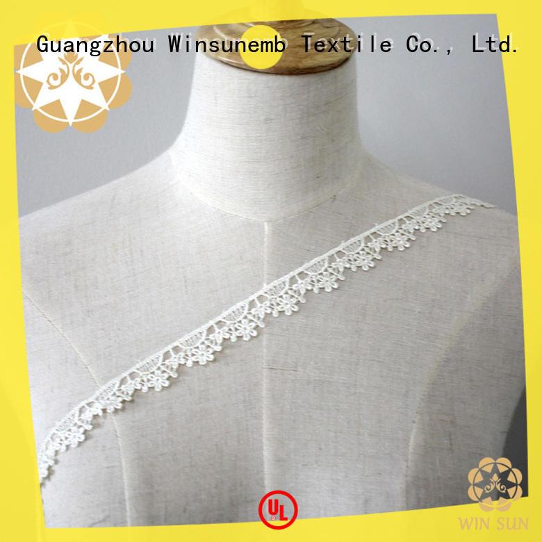 Winsunemb water lace trim for fashion garment