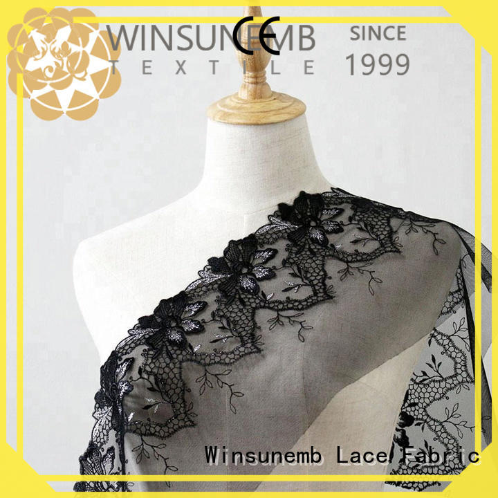 Winsunemb different color cotton lace fabric order now for apparel