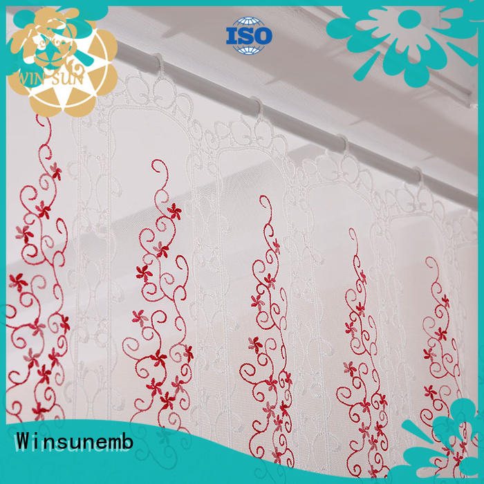 Winsunemb kitchen lace curtain directly sale for window