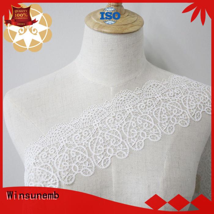 eyelet chemical cut stretch lace Winsunemb manufacture