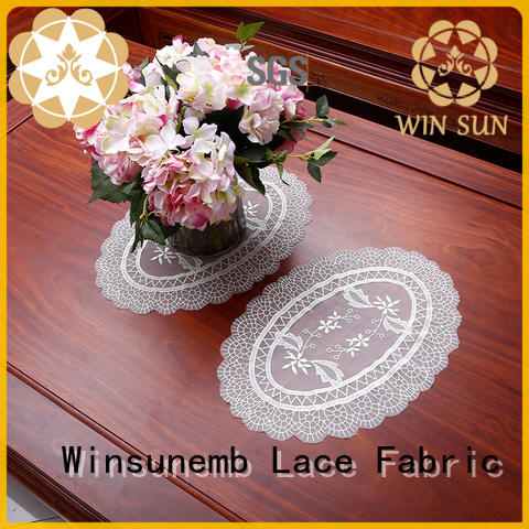 Winsunemb Brand chinese big where to buy lace doilies lotus