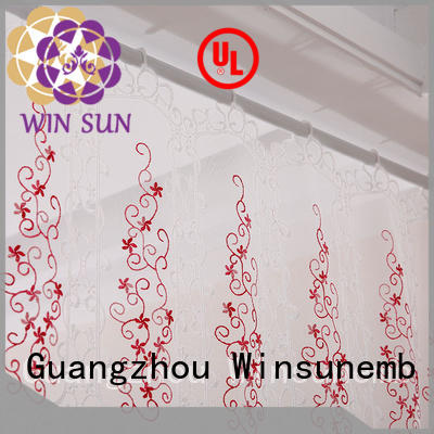Winsunemb embroidered lace curtain directly sale for window
