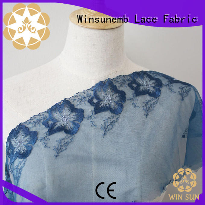 Winsunemb lace fabric by the yard order now for apparel
