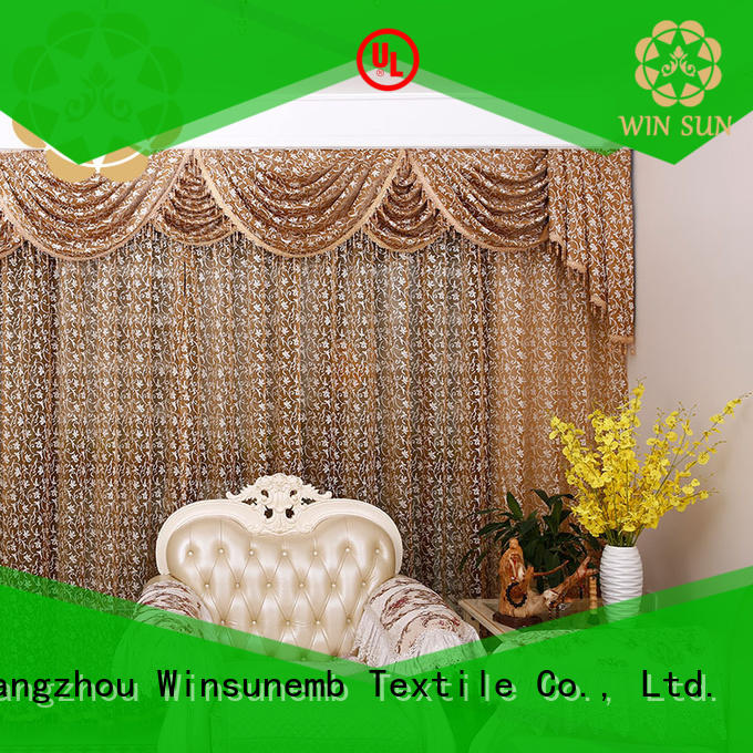 Winsunemb inches lace drapes bulk production for window
