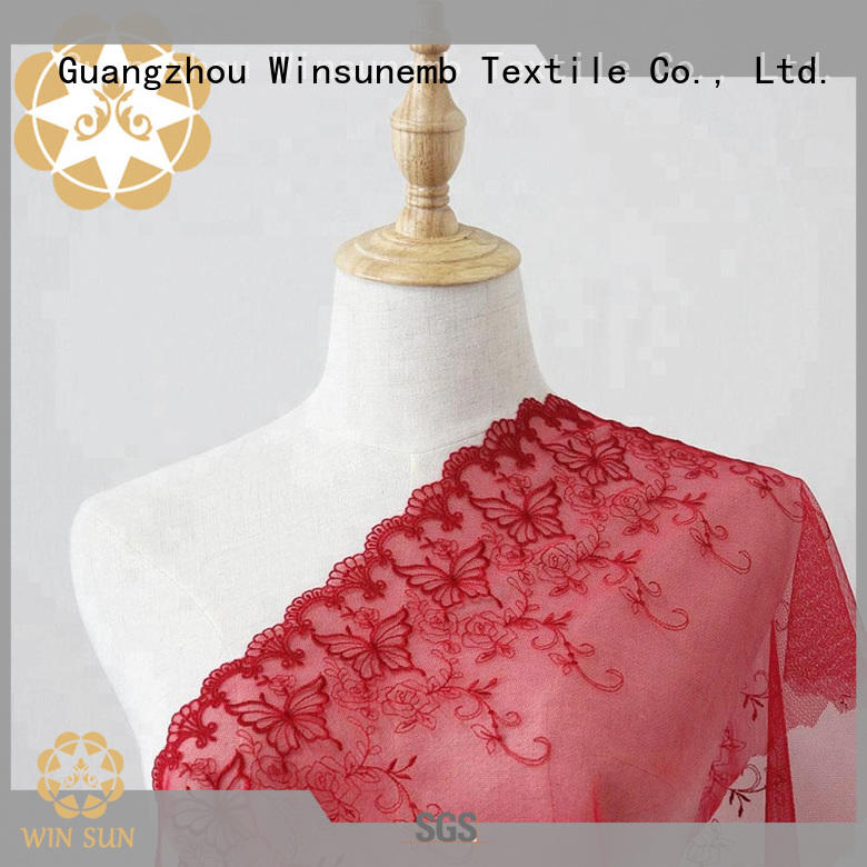 soft luxury lace embroidery for manufacturer for underwear