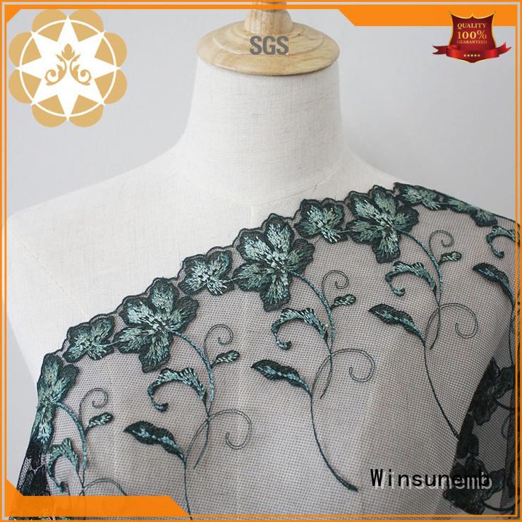 lace material silver for underwear Winsunemb