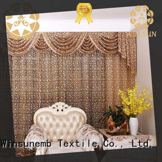 Winsunemb fashion design lace drapes bulk production for window