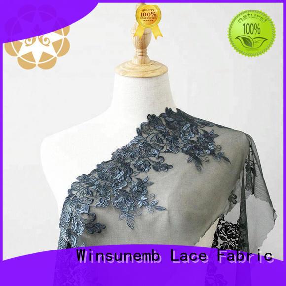 nylon red lace fabric crown net Winsunemb Brand
