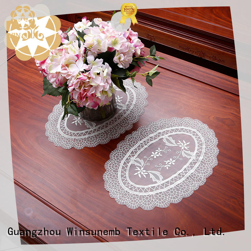 Winsunemb superior lace doilies overseas market for pianos