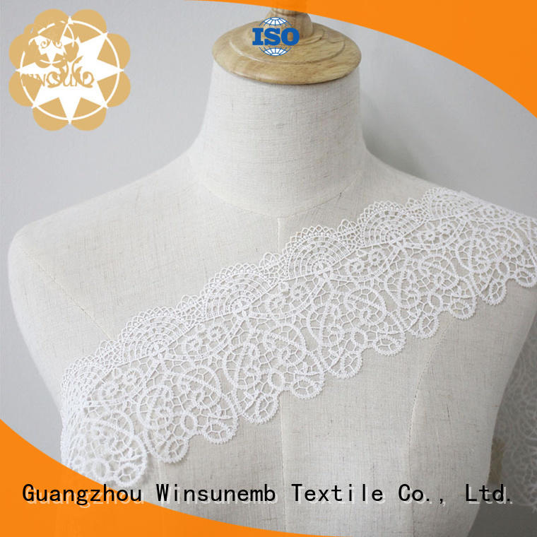 eyelet stretch lace chemical cotton Winsunemb Brand