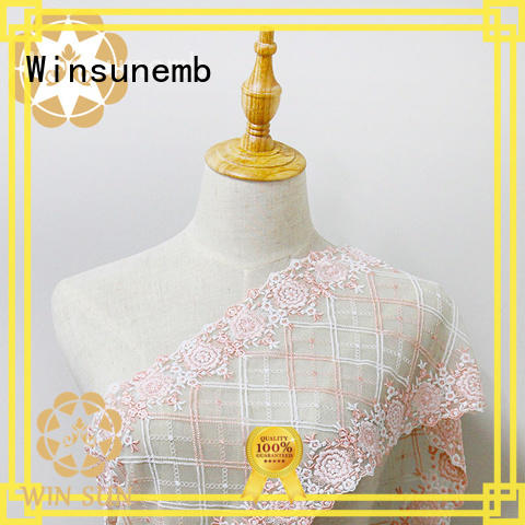 Winsunemb product lace fabric for apparel