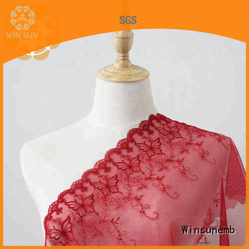 Winsunemb coral lace fabric wholesale grab now for underwear