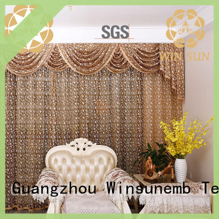 Winsunemb short Embroidery Lace Curtains in china for window