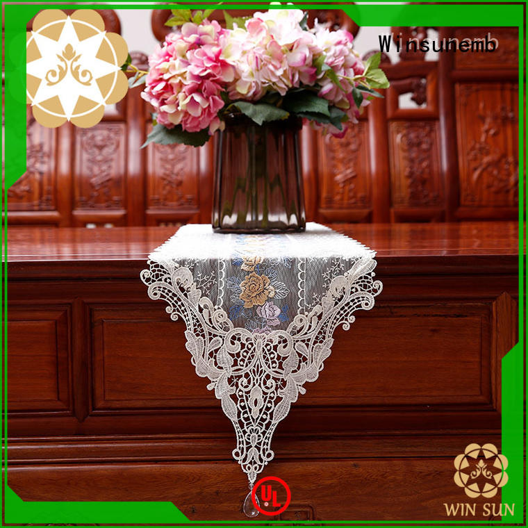 Winsunemb high-end lace table runners wedding for sideboards