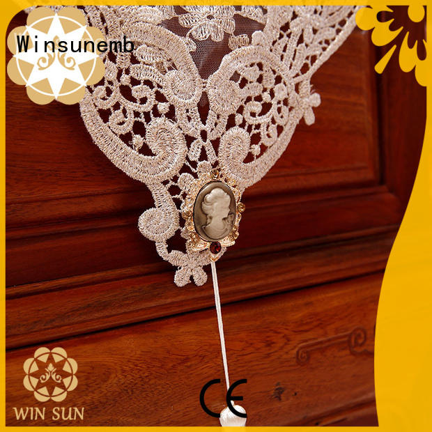 Winsunemb competitive price lace table runners producer for TV cabinets