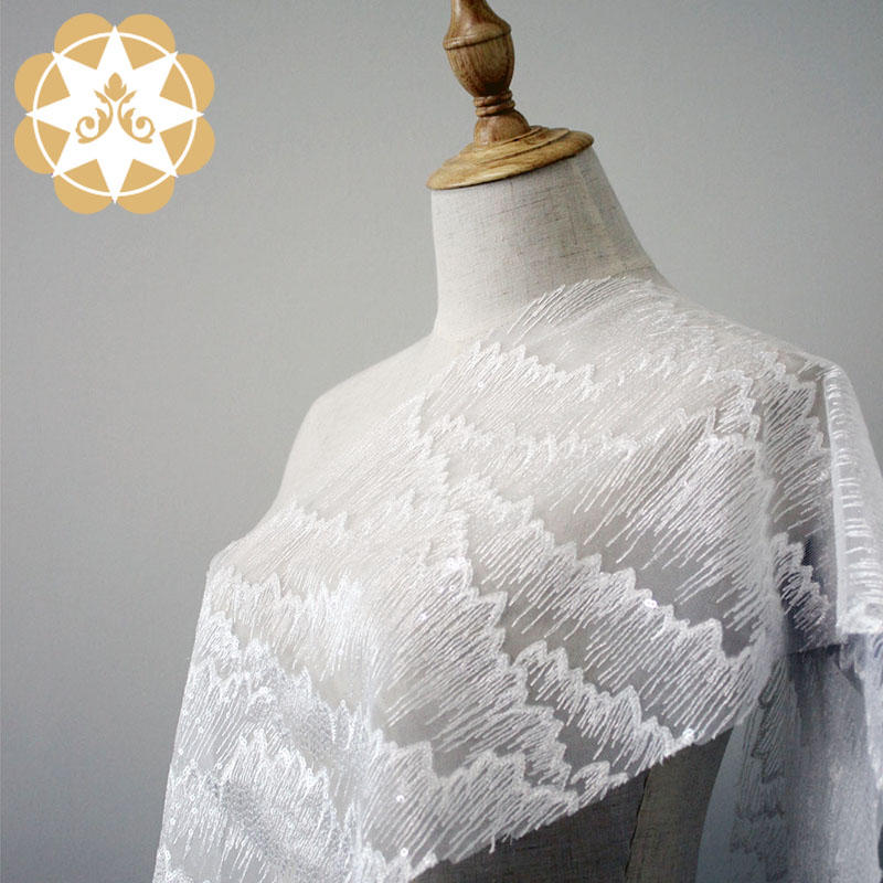 Winsunemb -Find White Lace Fabric Embroidery Lace Fabric For Bridal Water Ripples