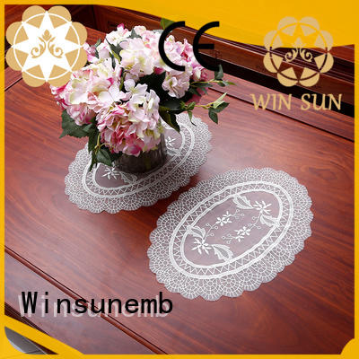 Winsunemb lotus lace doilies for TV cabinets
