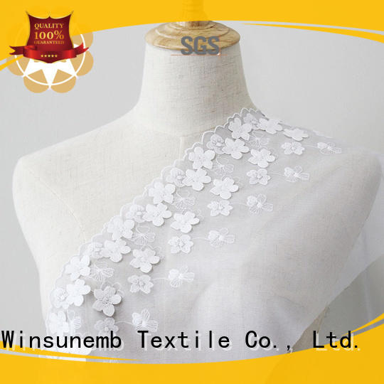 Embroidery lace Fabric 100%Polyester Floral Lace Fabric