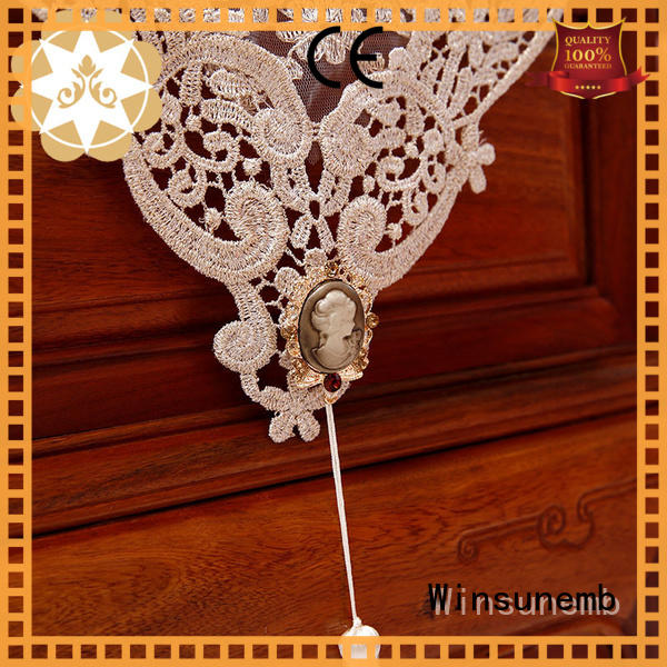 white lace table runner mesh rose bridal Winsunemb Brand company