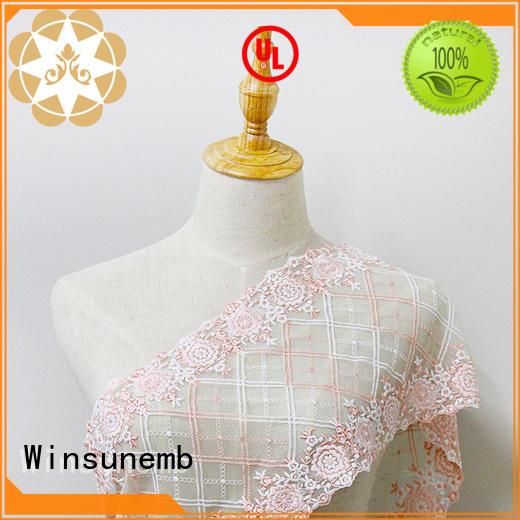 crown Embroidery Lace Fabric graceful Winsunemb company
