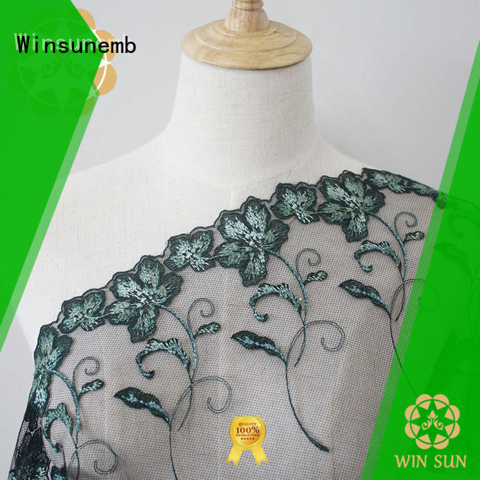 cotton lace fabric handwork for apparel Winsunemb