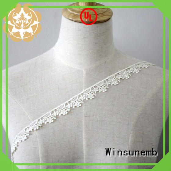 soft lace fabric by the yard in china for DIY Winsunemb