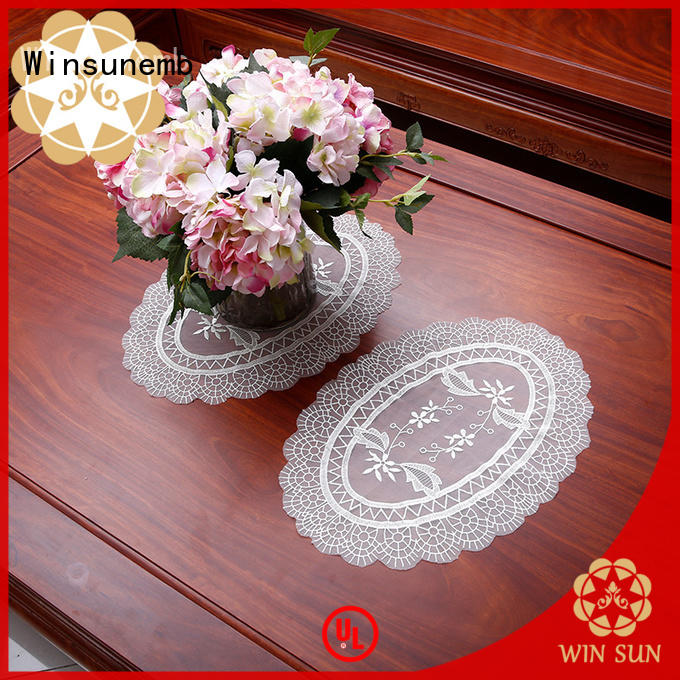 Winsunemb big lace appliques marketing for sideboards