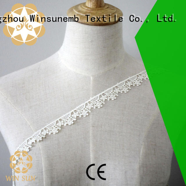 high-end embroidered lace fabric in china for DIY
