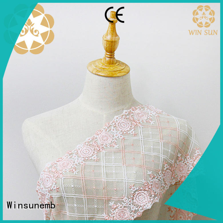 water graceful tulle Winsunemb Brand Embroidery Lace Fabric