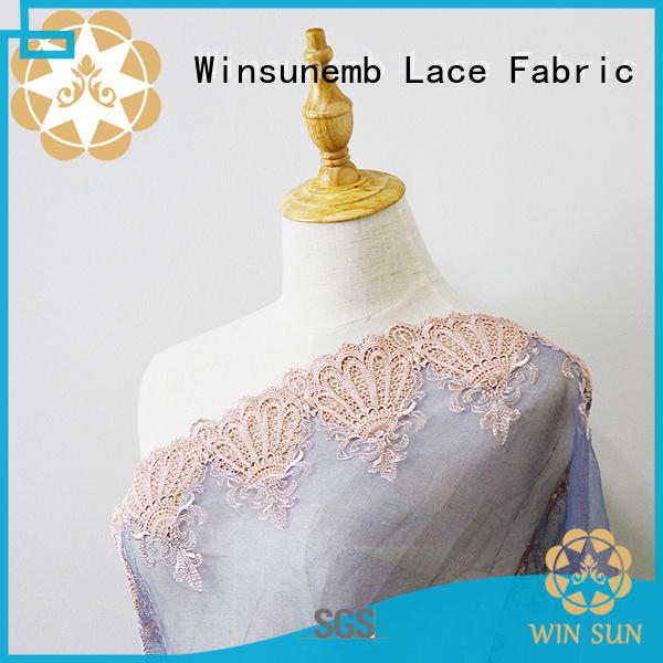 Winsunemb durable lace fabric for apparel