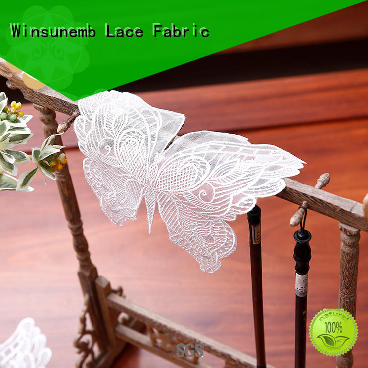 butterflyshaped traditional oval design Winsunemb Brand lace doilies supplier