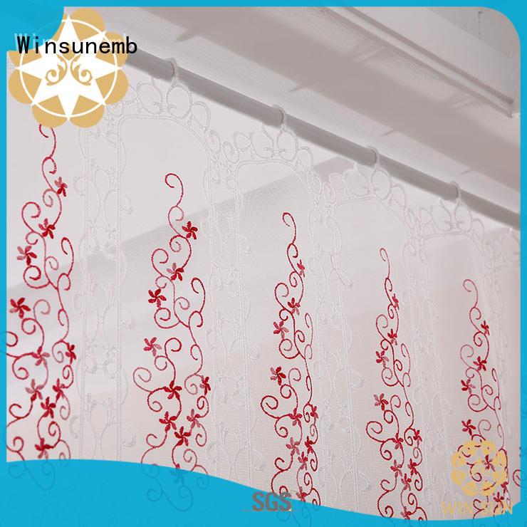 Winsunemb width lace curtain wholesale for window