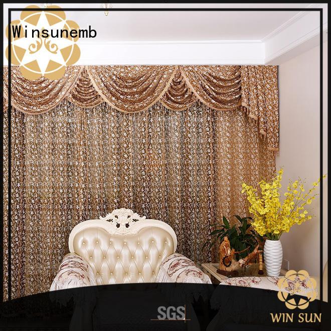 Winsunemb semi lace curtain for manufacturer for window