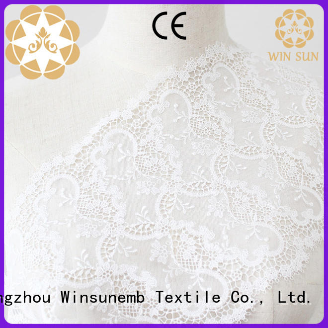 Winsunemb different color stretch lace fabric for manufacturer for underwear