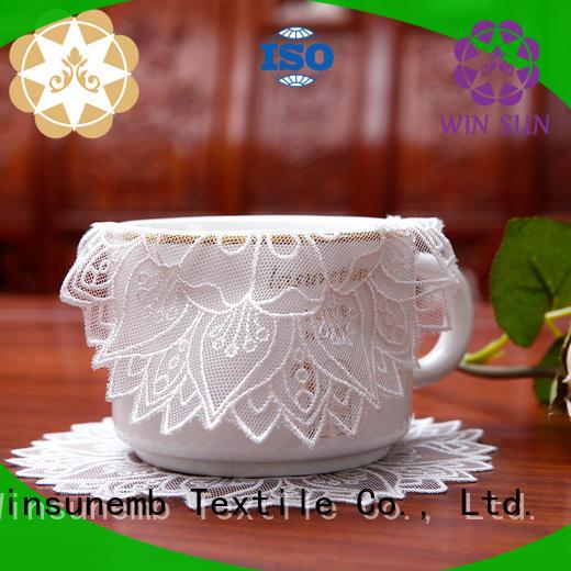 Custom oval lace doilies big Winsunemb