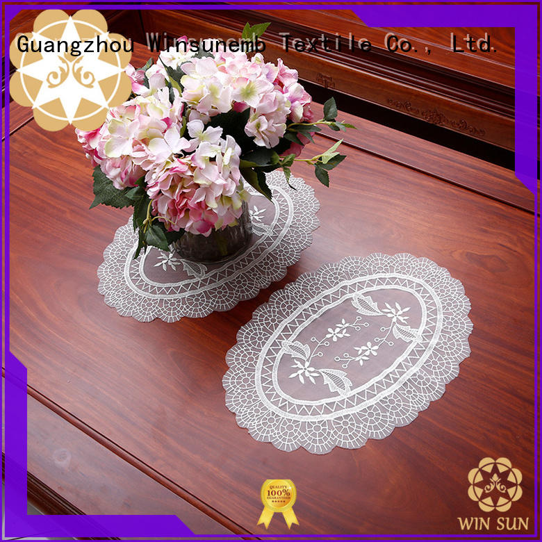 superior lace placemats mat marketing for end table
