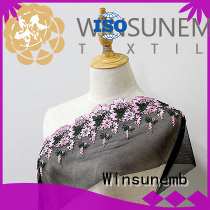 dress sequin lace fabric producer for apparel Winsunemb